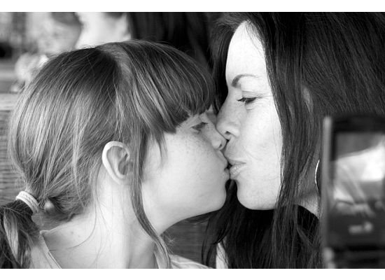 hannah and me kissing
