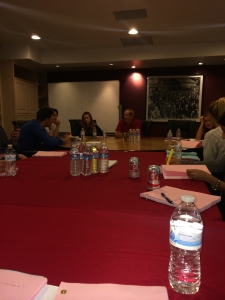 Table read & the first time I had ever heard my script out loud!
